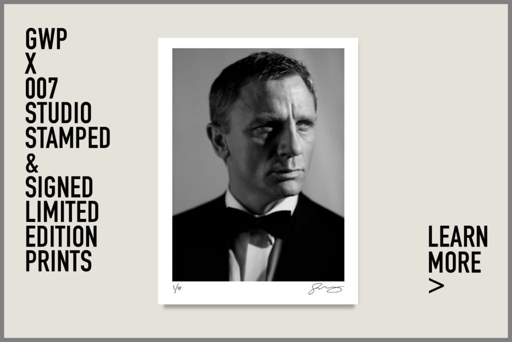 007 x gwp, signed limited edition, studio stamped, photographic prints, gwp, greg williams